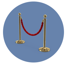 Classic Metal Stanchions